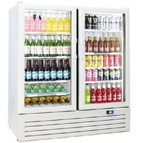 Schmick Commercial Short Upright 2 Glass Door Bar Fridge