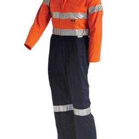 Lightweight 2-Tone Protective Coverall with Tape